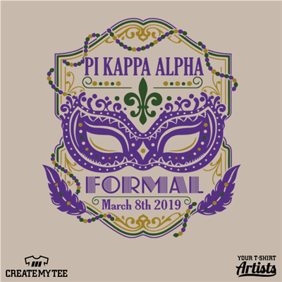 New Orleans, Mardi Gras, Pi Kappa Alpha, Mask, Formal, 2019