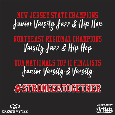 Hunterdon Central Dance Team, Dance, HCDT, Strong Together, Champions