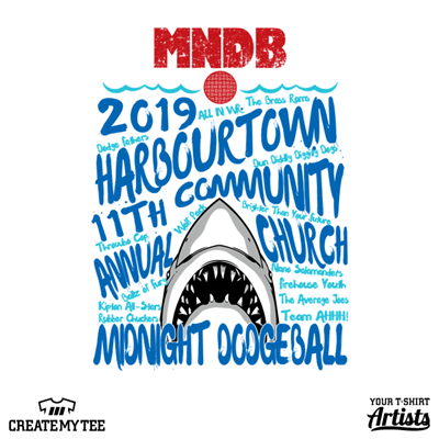 Midnight, Dodgeball, MNDB, Shark, Jaws, 2019, Electric Blue