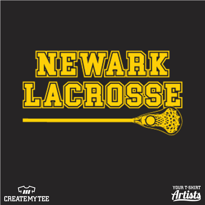 Newark, High School, Lacrosse, Yellowjackets, 3.5, 1 color
