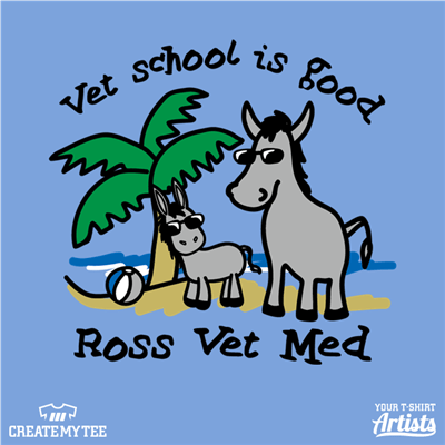 Vet School, Vet School is Good, Ross Vet Med, Donkey, Baby Donkey, Beach