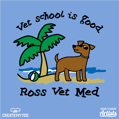 Vet School Is Good, Vet School, dog, Beach