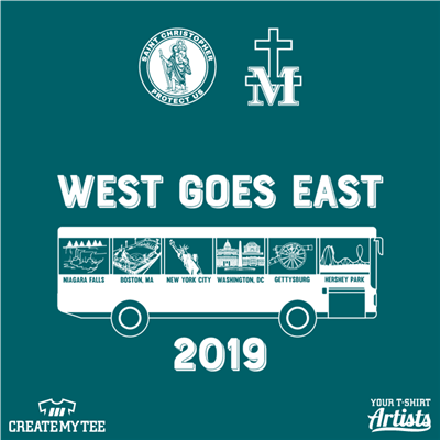 West Goes East, 2019, Bus