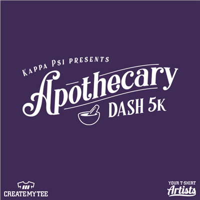 Apothecary Dash, 5k, Alpha Psi, Road Race, Greek