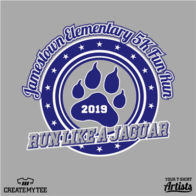 Jamestown, Elementary, 5k, Fun Run, Jaguar, Paw Print, 10