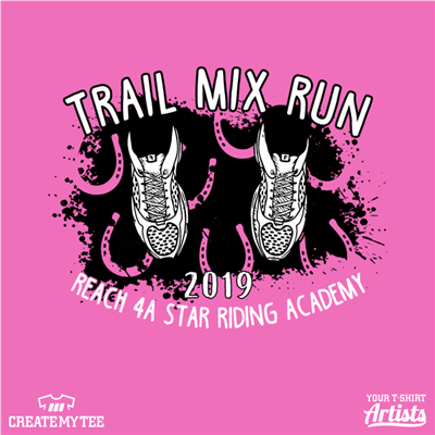 Trail Mix Run, Road Race, Horse Hooves, Horseshoe, Sneakers