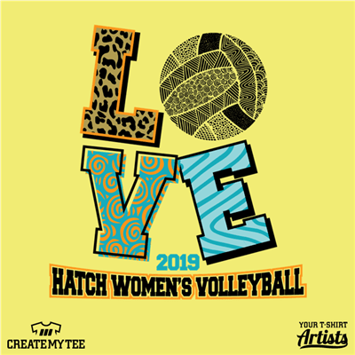Volleyball, LOVE, Hatch, Womens, Team, Sport, Sports