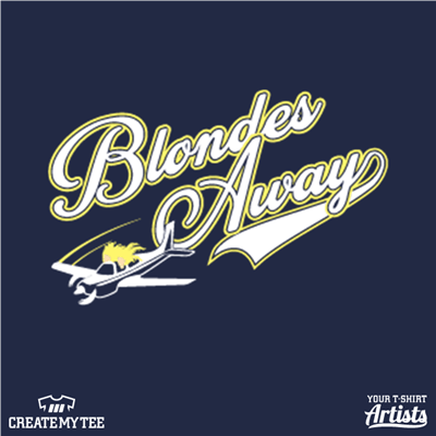 Blondes Away, Plane, Blondes, Girls, Flying, Air