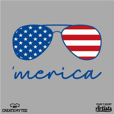 Merica, Sunglasses, Shades, Patriotic, USA, America, 4th of July
