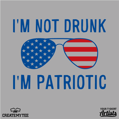 Amazon, Not Drunk, Patriotic, Shades, Sunglasses, America, 4th of July