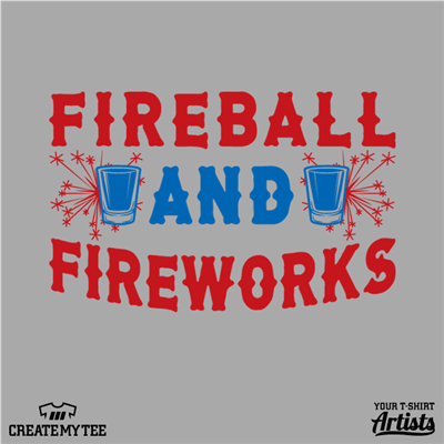 Fireball, Fireworks, Shots, Amazon, 4th of July, America