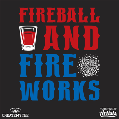 Fireball, Fireworks, Amazon, Shots, 4th of July