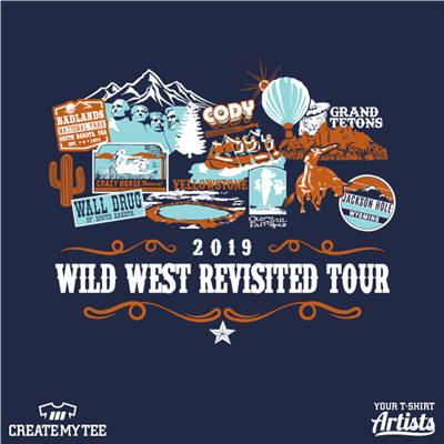 2019, Wild West Revisited, Tour, Western, Yellowstone, Travel