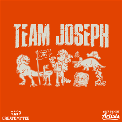 Epilepsy, Team Joseph, Awareness, Child, Pirate, Dinosaur, T-Rex, Treasure
