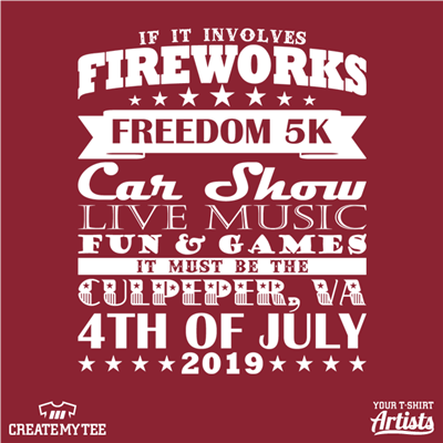 City of Culpeper, 4th of July, Race, 2019