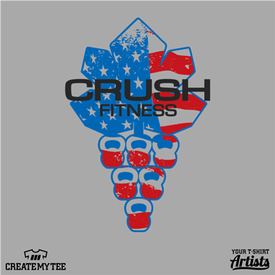 Crush Fitness, Patriotic, Crossfit, Flag