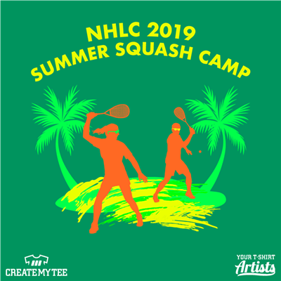 NHLC, 2019, Summer Squash, Camp, Squash, Palm Tree, Beach