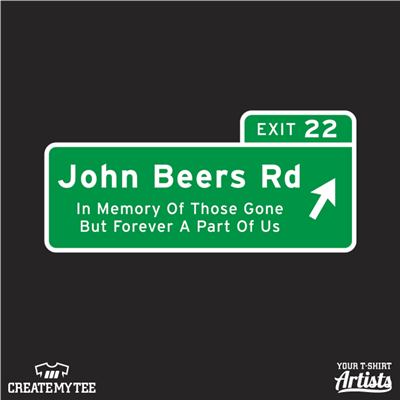 John Beers Rd, State, Interstate Sign, Exit