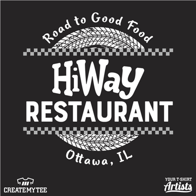 HiWay, Road To Good Food, Ottowa, Restaurant, Cars