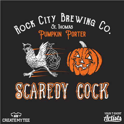 Scaredy Cock, Rock City Brewing Co., St. Thomas, Pumpkin Porter, Beer, Pumpkin, Rooster, Halloween