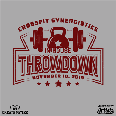 CrossFit Synergistics, Throwdown, Gym, Fitness, 2019
