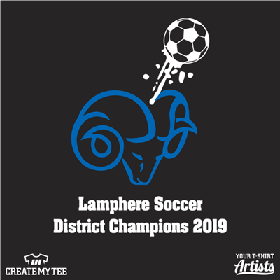 Lamphere, Soccer, District Champions, Ram