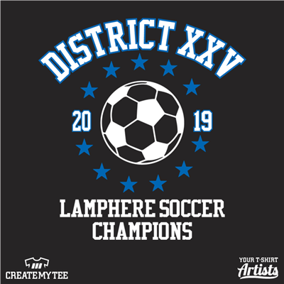 Lamphere, Soccer, District Champions, District XXV, 2019