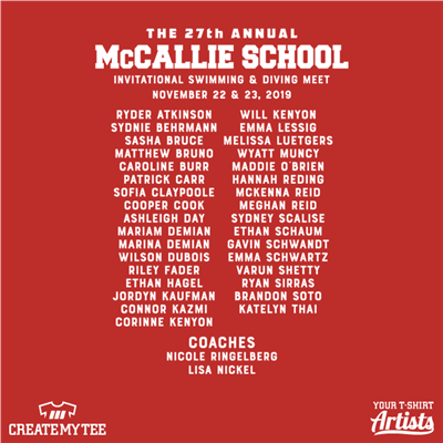 McCallie, School, Swim and Dive, Swim, Dive, Names, List, Coach