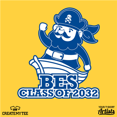 BES, Class of 2032, Pirate, Elementary School, Boat, School