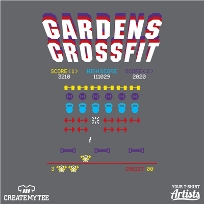 Gardens Crossfit, Crossfit, Weights, Space Invaders, Retro, Gaming, Games, Fitness