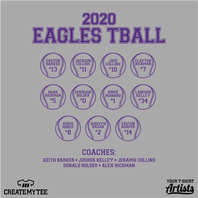 Eagles Tball, Baseballs, Players, Team, Coaches