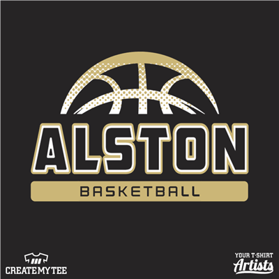 alston, basketball, front, vegas gold