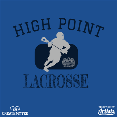 hpa, lacrosse, front, navy, light gray, high point