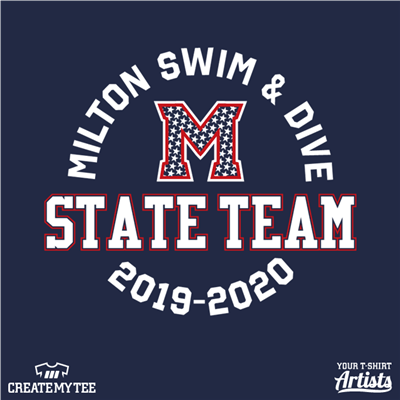 Milton, Swim & Dive, Team, State Team, Swim, M, Stars, 9.5