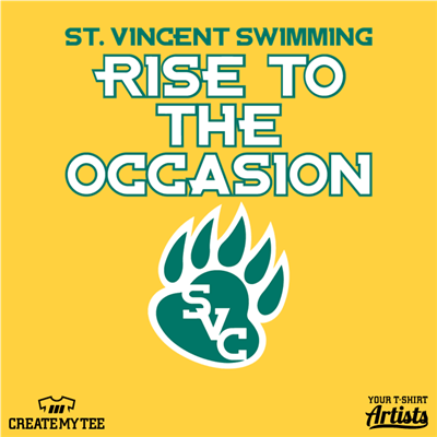 SVC, Swim Team, Paw Print, Rise To The Occasion, St Vincent, Saint Vincent, Swimming, 10