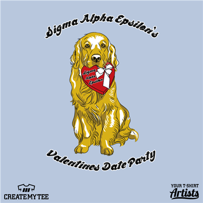 Valentines Day, Sigma Alpha Epsilon, Date Party, Greek, Dog, Golden Retriever
