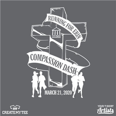 Compassion Dash, 2020, Road Race, Cross, Religion, Running For Erin, First Baptist, Church, Runners, Run