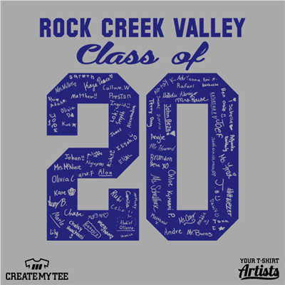 Class of, 2020, Rock Creek Valley, School, Elementary, Names, 10