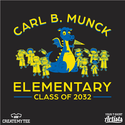 Carl B Munck, Elementary, Dragon, Children, School