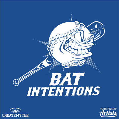 Bat Intentions, Baseball, Softball