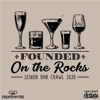 Senior Bar Crawl, MSU, Founded On The Rocks, Drinks, Alcohol, 10.5