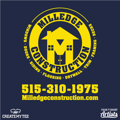 Milledge Construction LLC, Construction, Logo, 11