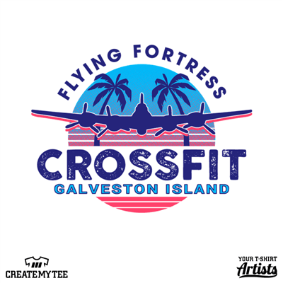 Flying Fortress, Crossfit, Gym, 9, Galveston Island, Plane, Palm, Vaporwave