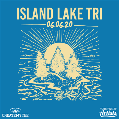 Epic, ILT, Island Lake Tri, 2020, Trees, Water, Sun, Retro, Vintage