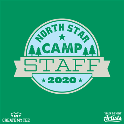 North Star, Camp, Staff, 2020, Circle, Badge