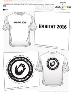 Habitat for Humanity T-Shirt Designs   CreateMyTee