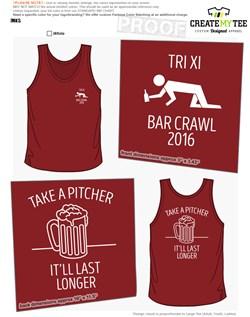 Bar Crawl T Shirt Designs Createmytee