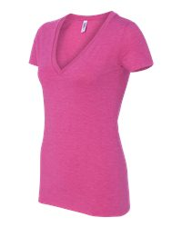 Bella Ladies' Tri-Blend Deep V-Neck T-Shirt (8435)