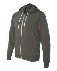 Canvas Poly-Cotton Full-Zip Hoodie (3739)