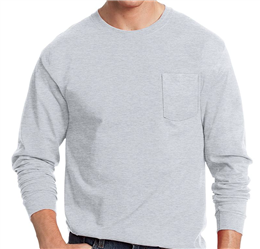 Hanes Tagless ComfortSoft Long-Sleeve Pocket T-Shirt